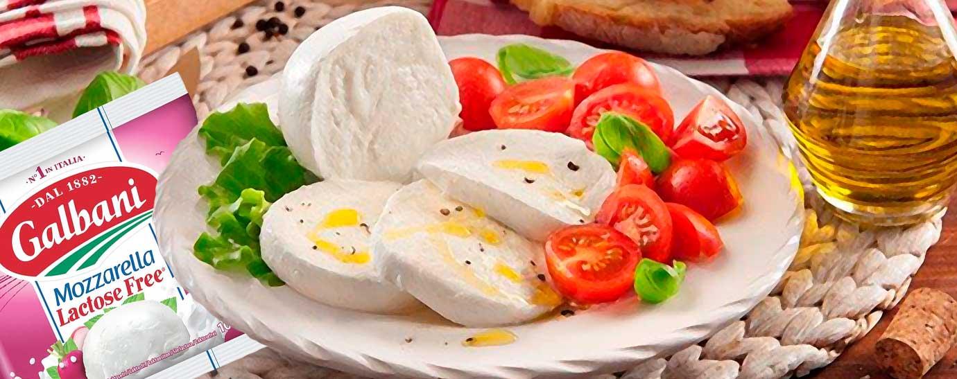 Ensalada de tomate y mozarella sin lactosa