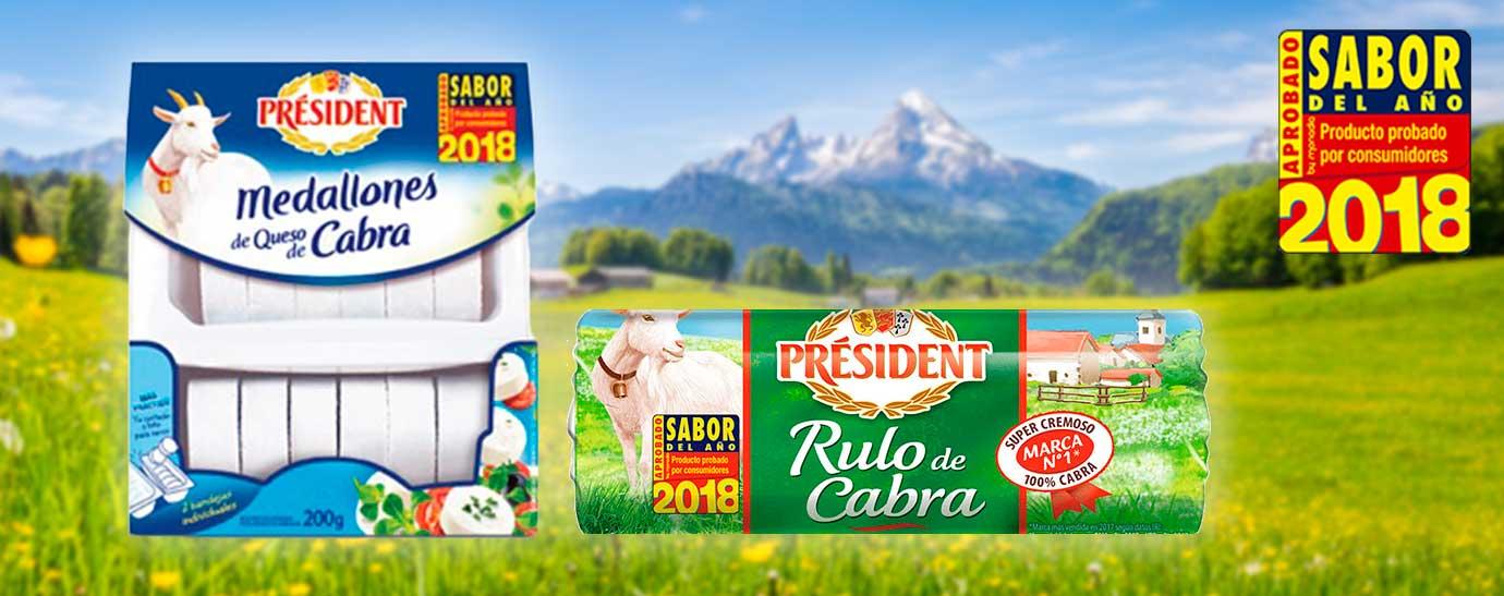 Medallones de cabra y rulo de cabra Président