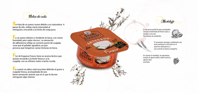 notas de cata del queso Flor de Esgueva Fresco